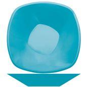4060-33 Πιατέλα σαλάτας PP πλαστική τετράγωνη 28cm, 3 lt τιρκουάζ πολυτελείας.