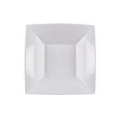 8057-11 Πιάτο σούπας πλαστικό PP τετράγωνο 18x18cm λευκό πολυτελείας.