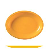 2754-40 Πιάτο πλαστικό οβάλ PP 25,5x19,5 cm πορτοκαλί.
