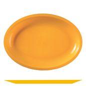 2755-12 Πιατέλα πλαστική οβάλ PP 30,5x21,5cm πορτοκαλί.