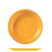 2750-12 Πιάτο πλαστικό στρογγυλό PP 22cm πορτοκαλί.