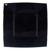 7056-19 Πιάτο φαγητού XL πλαστικό PS τετράγωνο 29x29cm μαύρο πολυτελείας.