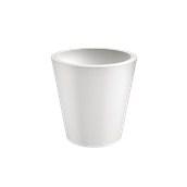 VA315-D00650-000 Γλάστρα πλαστική 65x65cm λευκή Rotational Ιταλίας