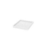 SV306-CM0035-000 Πιατάκι / βάση γλάστρας πλαστική 34x34x4cm λευκή Rotational Ιταλίας