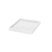 SV306-CM0050-000 Πιατάκι / βάση γλάστρας πλαστική 49x49x5cm λευκή Rotational Ιταλίας