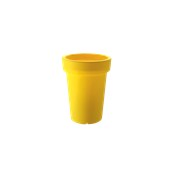 VA308-H00R40-072 Κασπώ / Βάζο πλαστικό 30x40cm κίτρινο Rotational Ιταλίας