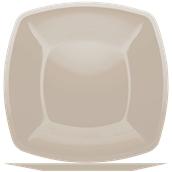 5056-41 Πιάτο μεγάλο πλαστικό PS τετράγωνο 30x30cm γκριζο-μπέζ πολυτελείας.