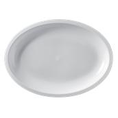 2755-11 Πιατέλα πλαστική οβάλ PP 30,5x21,5cm λευκό.