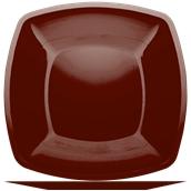 5056-39 Πιάτο μεγάλο πλαστικό PS τετράγωνο 30x30cm σοκολατί πολυτελείας.