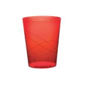 2782-28 Πλαστικό ποτήρι PS μίας χρήσης 32cl κόκκινο