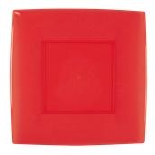 7056-28 Πιάτο φαγητού XL πλαστικό PS τετράγωνο 29x29cm κόκκινο πολυτελείας.