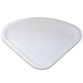 206-00 Πιάτο Λευκό Χάρτινο Τριγωνικό 34x26cm, Ιταλίας