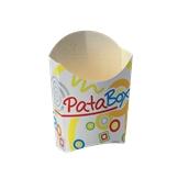 601-80 Χάρτινη Συσκευασία Πατάτας Mini, με σχέδιο, 138x62x130 mm, Ιταλίας