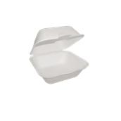 3474 Δοχείο Τροφίμων Με Καπάκι 13,5x13,5cm Από Ζαχαροκάλαμο, Βιοδιασπώμενο