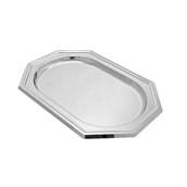 V1000-01 Δίσκος Πλαστικός Παρουσίασης 46x31cm οκταγωνικός PET, ασημί