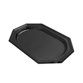 V1000-19 Δίσκος Πλαστικός Παρουσίασης 46x31cm οκταγωνικός PET, μαύρος