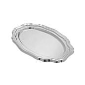 V1004-01 Δίσκος Πλαστικός Πολυτελείας 46x31cm PET, ασημί