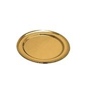 V1005-02 Δίσκος Πλαστικός Παρουσίασης φ27cm στρογγυλός PET, χρυσός