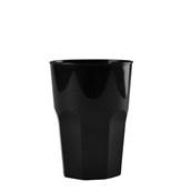 4076-19 Πλαστικό ποτήρι PP μίας ή πολλών χρήσεων 40cl μαύρο