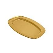 V1002-02 Δίσκος Πλαστικός Παρουσίασης 33x24cm ορθογώνιος PET, χρυσός