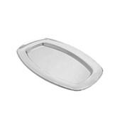 V1002-01 Δίσκος Πλαστικός Παρουσίασης 33x24cm ορθογώνιος PET, ασημί
