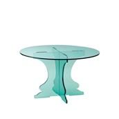 U1225-16/R12-2516GL Βάση τούρταs Ακρυλικη, φ25 x Y16cm, διαφανές glass look, GARIBALDI
