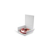 SPAZIOZERO-A Σκεύος Τούρτας-Παγωτού 18.5x18.5x8cm, λευκό, Ιταλίας