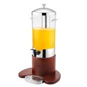 U03-0510 Διανεμητής Χυμού-Καφέ Μονός με Ξύλινη Βάση, 5 λίτρων
