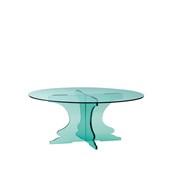 U1225-10/R12-2510GL Βάση τούρταs Ακρυλικη, φ25 x Y10cm, διαφανές glass look, GARIBALDI