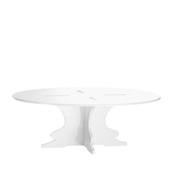 U1230-10/R12-3010WH Βάση τούρταs Ακρυλικη, φ30 x Y10cm, άσπρη, GARIBALDI