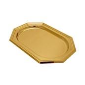 V1000-02 Δίσκος Πλαστικός Παρουσίασης 46x31cm οκταγωνικός PET, χρυσός