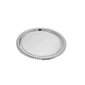 V1003-01 Δίσκος Πλαστικός Παρουσίασης φ34cm στρογγυλός PET, ασημί