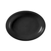 2754-19 Πιάτο πλαστικό οβάλ PP 25,5x19,5 cm μαύρο.