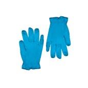 GVI-NB/S Σετ 100τεμ γάντια ΜΠΛΕ Βινυλίου χωρίς Λάτεξ, με πούδρα - SMALL