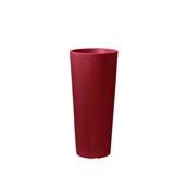 CH302-H0R100-139 Γλάστρα πλαστική 45x100cm κόκκινη γυαλιστερή Rotational Ιταλίας