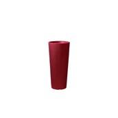 CH302-H00R70-139 Γλάστρα πλαστική 31x70cm κόκκινη γυαλιστερή Rotational Ιταλίας