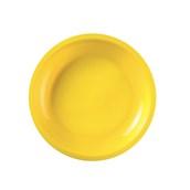 2750-82 Πιάτο πλαστικό στρογγυλό PP 22cm κίτρινο.