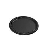 V1003-19 Δίσκος Πλαστικός Παρουσίασης φ34cm στρογγυλός PET, μαύρος