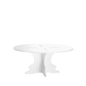 U1225-10/R12-2510WH Βάση τούρταs Ακρυλικη, φ25 x Y10cm, άσπρη, GARIBALDI