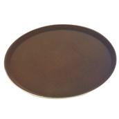 MFE-1600BR Δίσκος Σερβιρίσματος Fiberglass, Στρογγυλός Αντιολισθητικός Φ40,5cm, Καφέ