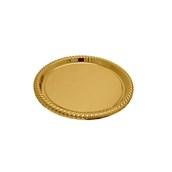 V1003-02 Δίσκος Πλαστικός Παρουσίασης φ34cm στρογγυλός PET, χρυσός