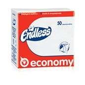 1100300008 Πακέτο 50 Χαρτοπετσέτες Economy, 30x30, λευκές, ENDLESS