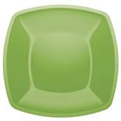 5056-36FR Πιάτο μεγάλο πλαστικό PS τετράγωνο 30x30cm πράσινο πολυτελείας.