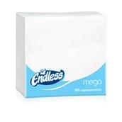1100330040 Πακέτο 100 Χαρτοπετσέτες Mega, 33x33, λευκές, ENDLESS