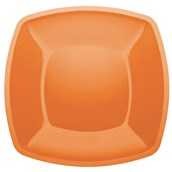 5056-60FR Πιάτο μεγάλο πλαστικό PS τετράγωνο 30x30cm πορτοκαλί πολυτελείας.