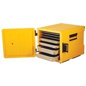 AVA-600x2 /Y Ισοθερμικό Κουτί GN2/1, με Μεντεσέ, 180 λίτρων, 400-500 μερίδων, κίτρινο