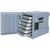 AVA-601M /G Ισοθερμικό Κουτί GN1/1, με Μεντεσέ, 83 λίτρων, 240-290 μερίδων, γκρι
