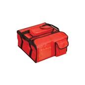 AV-14 Τσάντα Θερμός μεταφοράς Pizza, 40x40x20 cm, κόκκινη