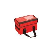 AV-12/RD Τσάντα Θερμός Μεταφοράς Τροφίμων, Ροφημάτων, 35x23x23 cm, Κόκκινη