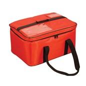 AV-17 Τσάντα Θερμός Μεταφοράς Τροφίμων, ορθογώνια 50x36x24 cm, κόκκινη